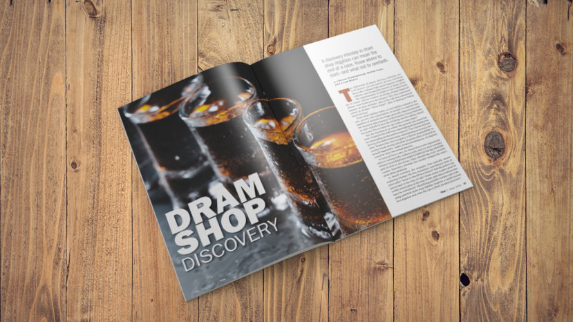 Magazine open to a dram shop discovery article